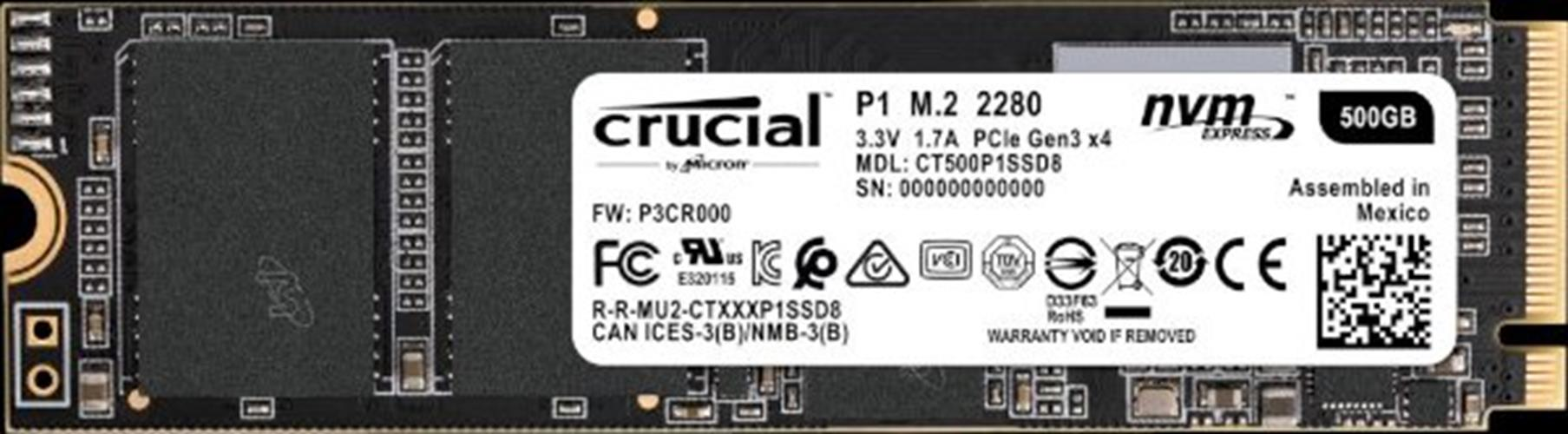 דיסק CRUCIAL SSD CT500P1SSD8 500GB M.2 NVMe