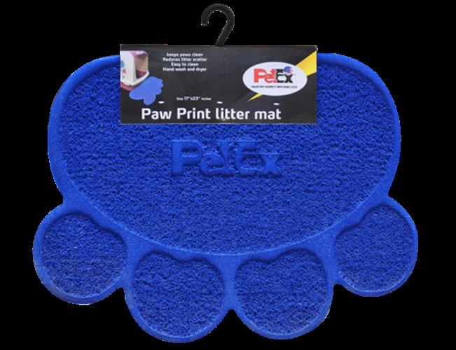 שטיח לחתול בצבע כחול פטקס