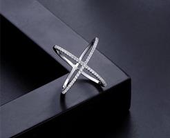 טבעת x -כסף אמיתי