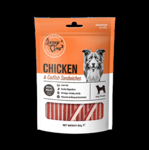 גרקי טיים מזון מלא לכלבים עם בשר עוף ודג קוד סנדוויץ' 80 גרם