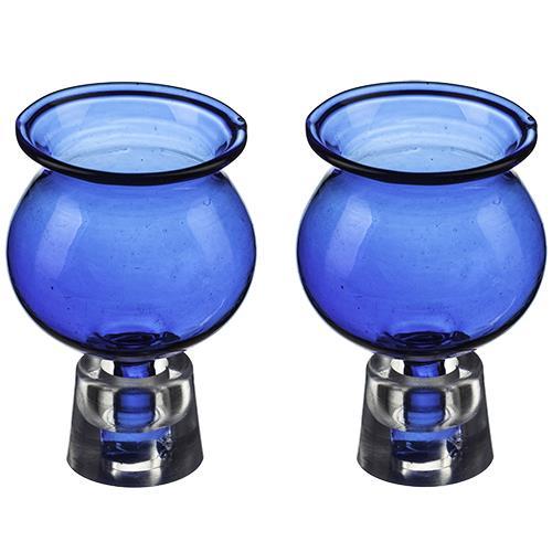 """זוג כוסיות לשמן 5.5X3.5 ס""""מ בגוון כחול"""