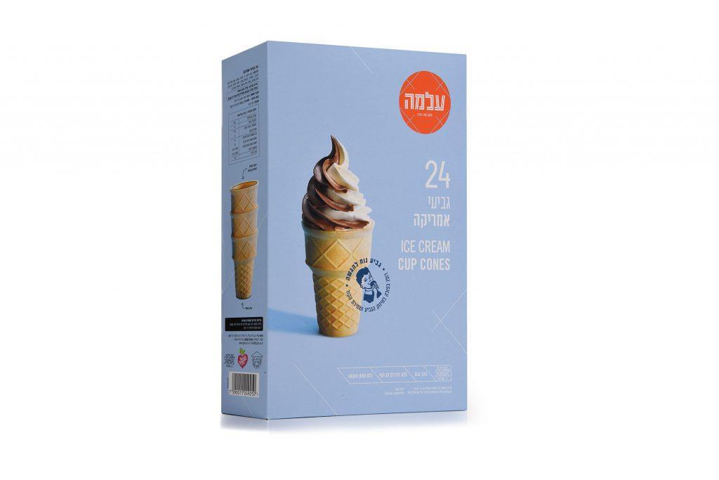 עלמה גביעי גלידה חדש אמריקה 24 גביע - מבצע 2 יח'