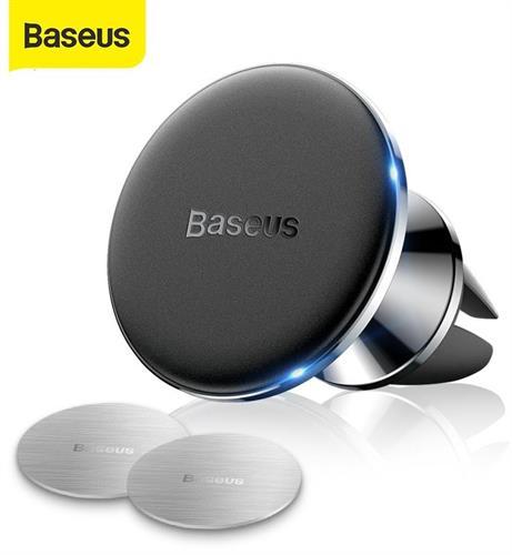 מעמד מגנטי מתכתי לרכב למזגן- Baseus car vent magnet איכותי