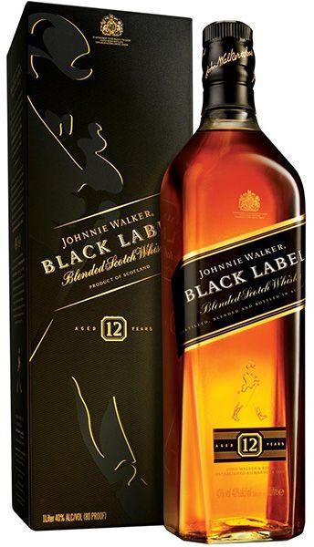וויסקי ג'וני בלאק ליבל שחור 1 ליטר   IBBL