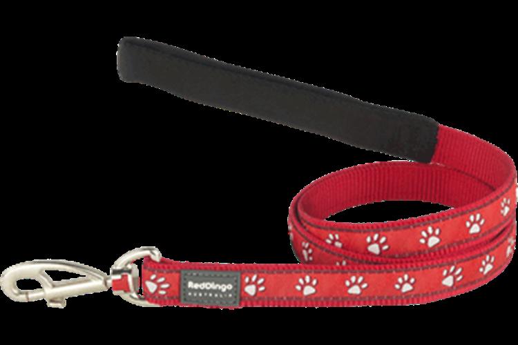 רצועה מעוצבת לכלב דגם אדום עקבות🐾🐾🐾