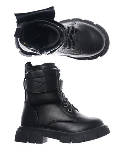 דגם 3045 - שחור עור (25-36)