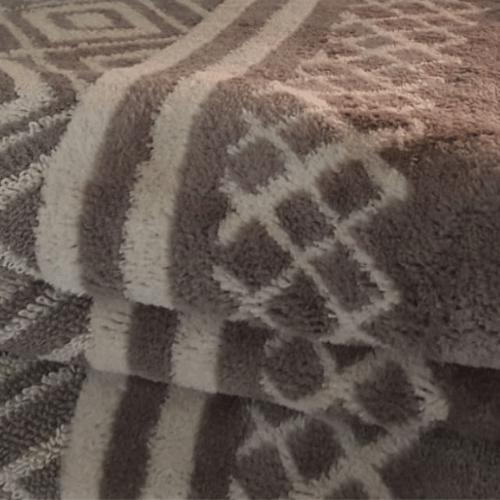 מגבת ג'קארד 100% כותנה 70/130 דגם יהלומים 3 - פריד