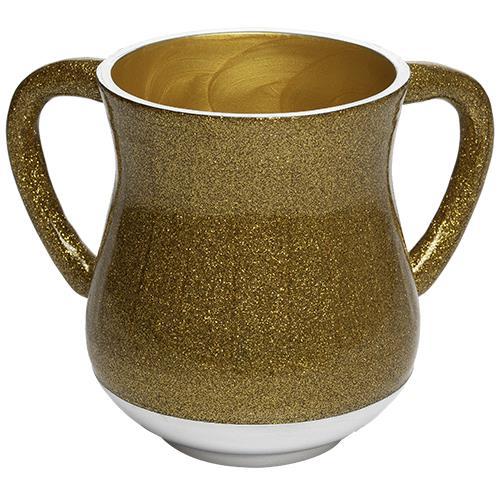 """נטלה מהודרת מאלומיניום בציפוי נצנצים בגוון זהב 13 ס""""מ"""