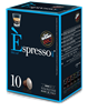 מארז קפסולות [10 יחידות 1.9₪ ליחידה] להכנת קפה אספרסו DECAF [כחול] נטול קפאין (תואמות Nespresso)