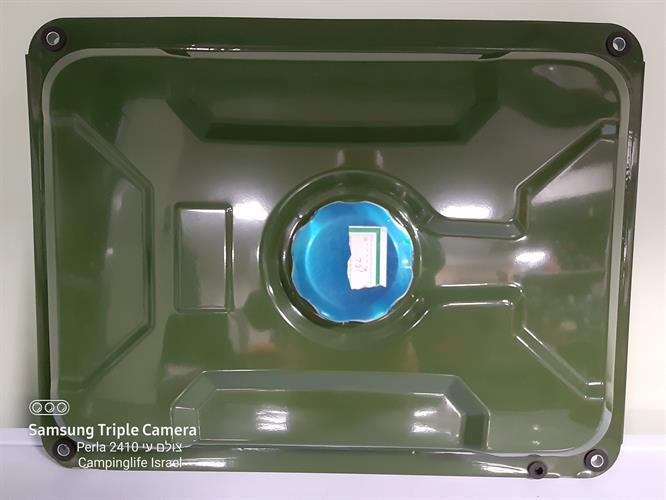 טנק דלק אליהו נפח 15 ליטר מתכת פלדה צבע ירוק צבאי