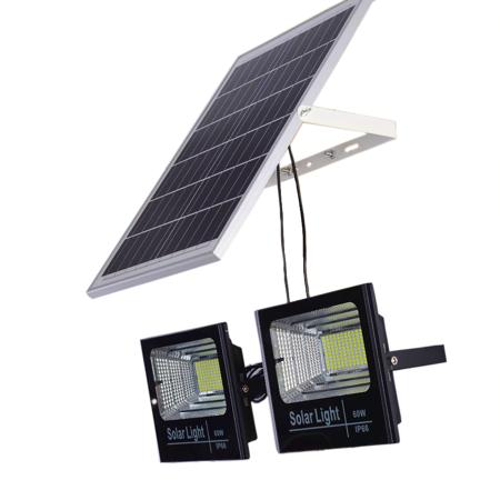 2 פרוז'קטורים סולאריים LED 100W כולל שלט