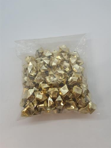 אבני פלסטיק זהב/ כסף