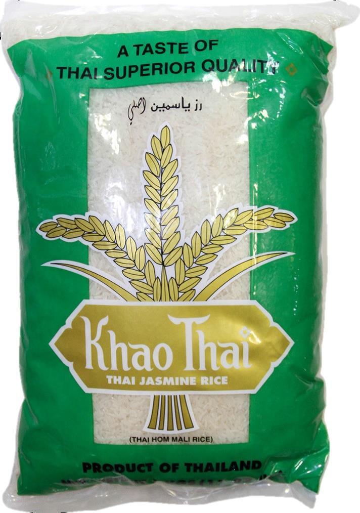 """אורז יסמין 5 ק""""ג  שק ירוק  קאו תאי  סוג אא"""