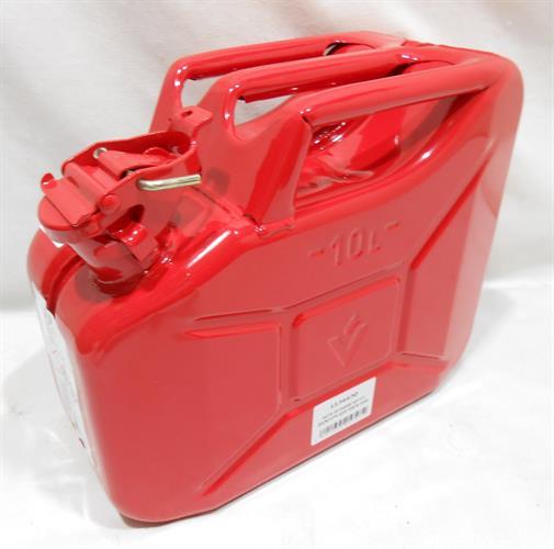 גריקן מיכל דלק מוגן פיצוץ 10 ליטר צבע אדום כולל משפך ירוק VALPRO