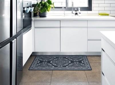 שטיח מטבח איכותי בתוספת גומי בתחתית דגם - 02 (מתנקה בקלות!)