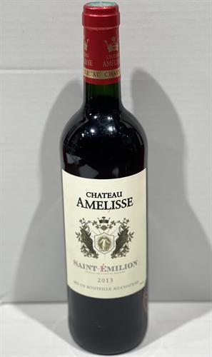 """יין צרפתי  AMELISSE SAINT EMILION  אדום יבש  750 מ""""ל - מבצע 2 יח'"""