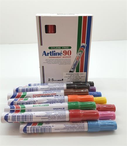 טושים ארטליין 90 12 בחבילה צבעוניים