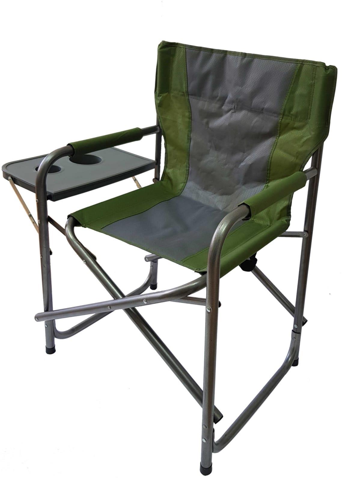 כיסא קמפינג מתקפל עם שולחן צד