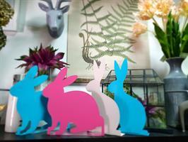 זוג ארנבות מתכת בטורקיז
