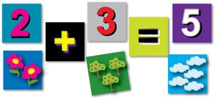 משחק מגנטי.  כדי ללמוד את המספרים.
