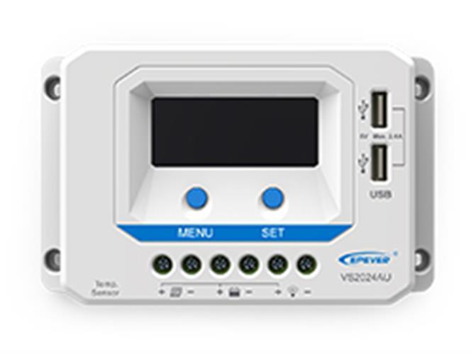 בקר טעינה 10 אמפר PWM עם חיבור USB