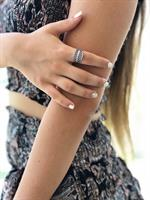 טבעת עלה - כסף אמיתי