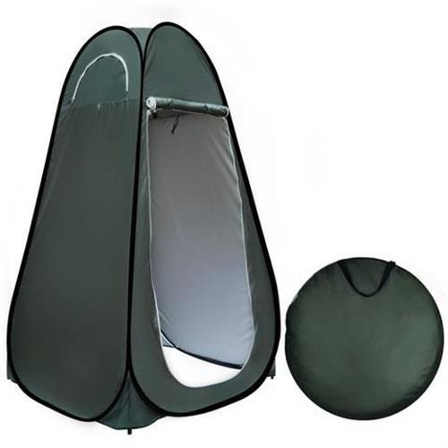 סט נוחות לשטח  אוהל עם  אסלה  מתקפלים POP UP צבע ירוק