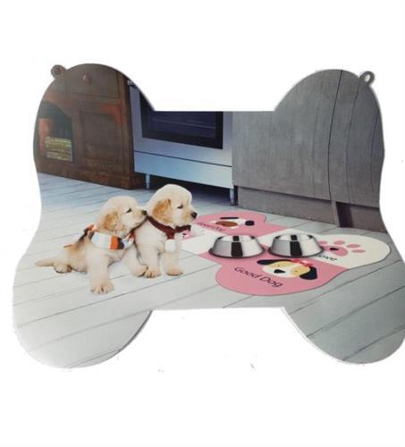 שטיחון  מעוצב כלבלבים בסיס לקערות מזון/מים