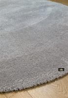 שטיח עגול אפור מיקרו פיבר דגם feel