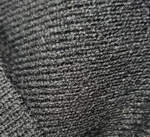 כובע צמר / גרב שחור עם רקמה בעיצוב אישי
