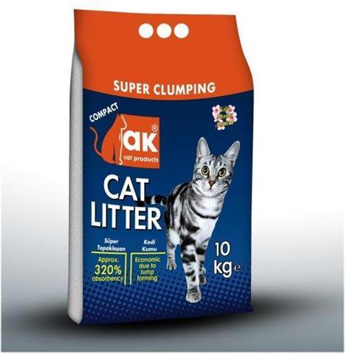 """חול מצע לחתול AK מתגבש דק 10 ק""""ג"""