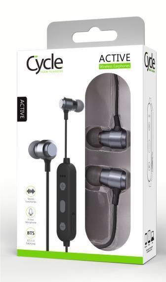 אוזניות בלוטות' CYCLE בצבע אפור