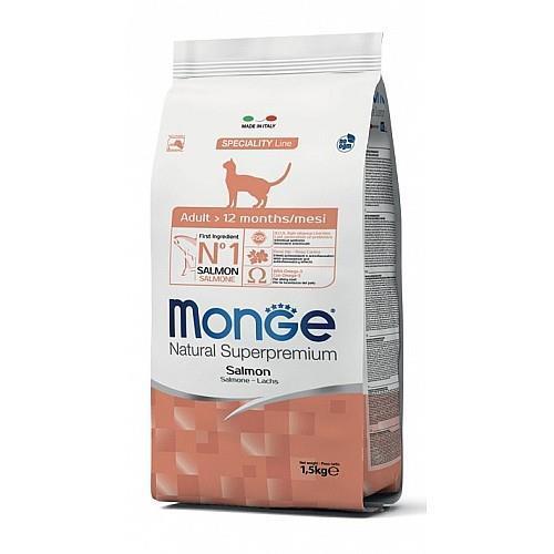 MONGE-  לחתול  אדולט סלומון 1.5 קג