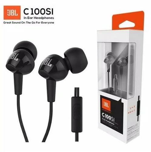 אוזניות סיליקון איכותיות- JBL C100si עם מיקרופון  רשמי במלאי