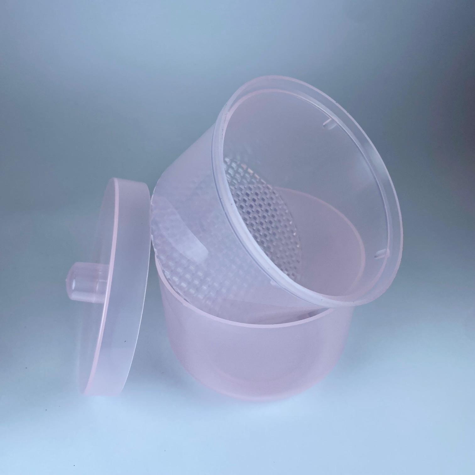 סיר פלסטיק עם מכסה לחיטוי ראשי שיוף