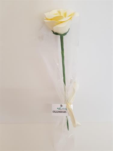 ורד בודד עם הקדשה אישית מתנה מזכרת מאירוע