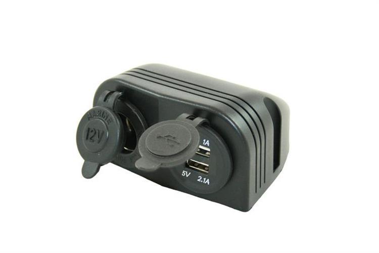 חיבור USB משולב שקע מצית 12 וולט