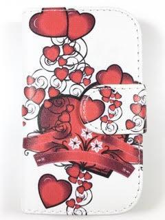 מגן ספר לLG L40 דגם 'לב אדום'