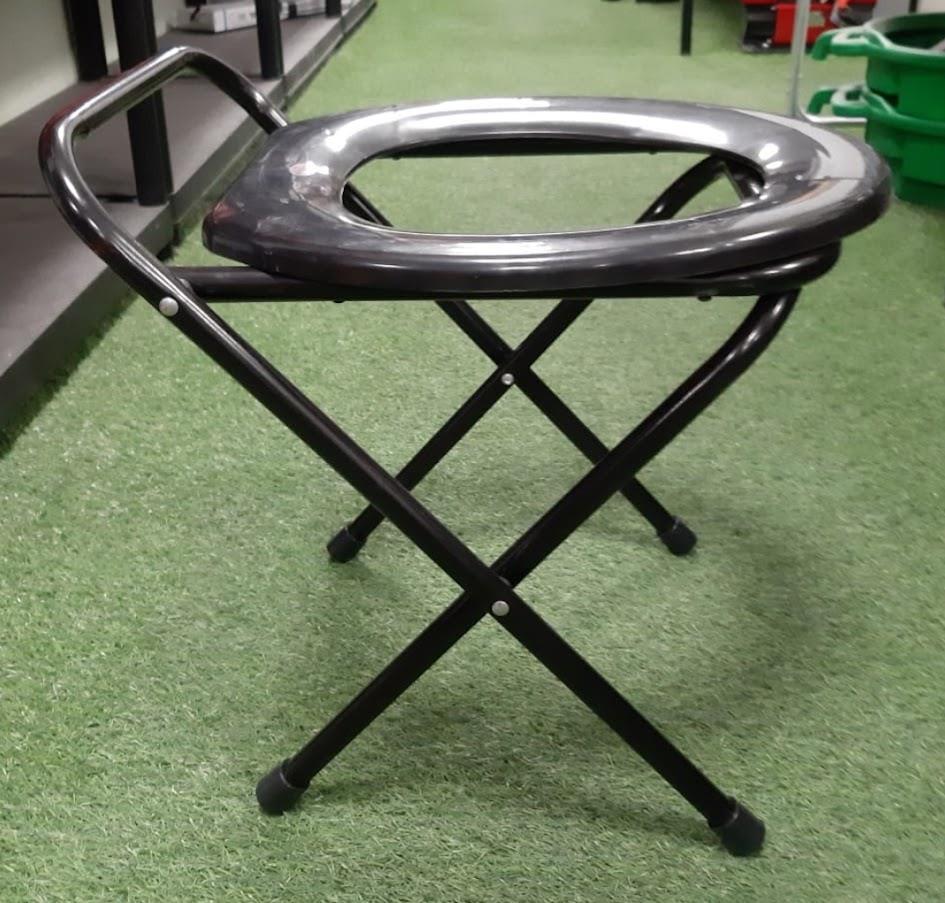 כיסא אסלה מתקפלת צבע שחור לשמירה על בידוד וסטריליות