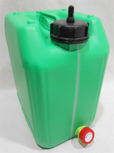 מיכל עם ברז ונשם 11 ליטר צבע ירוק קמפינג לייף