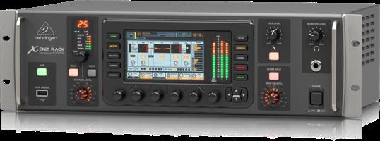 מיקסר דיגיטאלי Behringer X32 RACK עם 40 ערוצים ומטריצת אזורים אודיו ושליטה מרחוק פנל iPhone / iPad