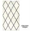 שטיח מרקש שאגי שחור לבן 02
