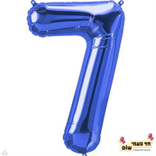 בלון 34 אינץ' 7 כחול (ללא הליום)