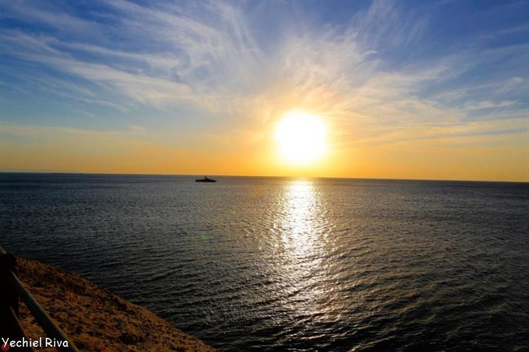 Support Israel and get this picture: Sunset in Rosh Hanikra