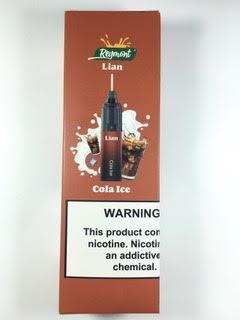 סיגריה אלקטרונית חד פעמית כ 5000 שאיפות Disposable 20mg Lian בטעם קולה אייס Cola Ice