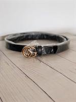 חגורת גוצ'י דקה - אבזם זהב ( מגיע ללא אריזה)