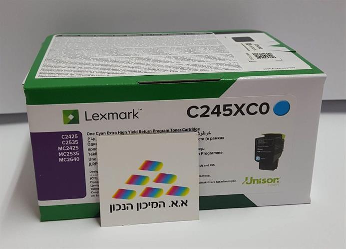 טונר כחול מקורי Lexmark C2425,MC2425 C245XC0 3.5K