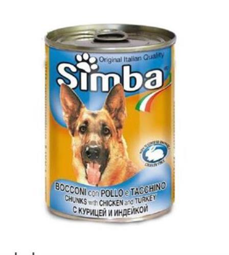 שימורי סימבה לכלב עוף והודו