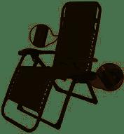 כיסא מתקפל - רב מצבים בצבע ברונזה