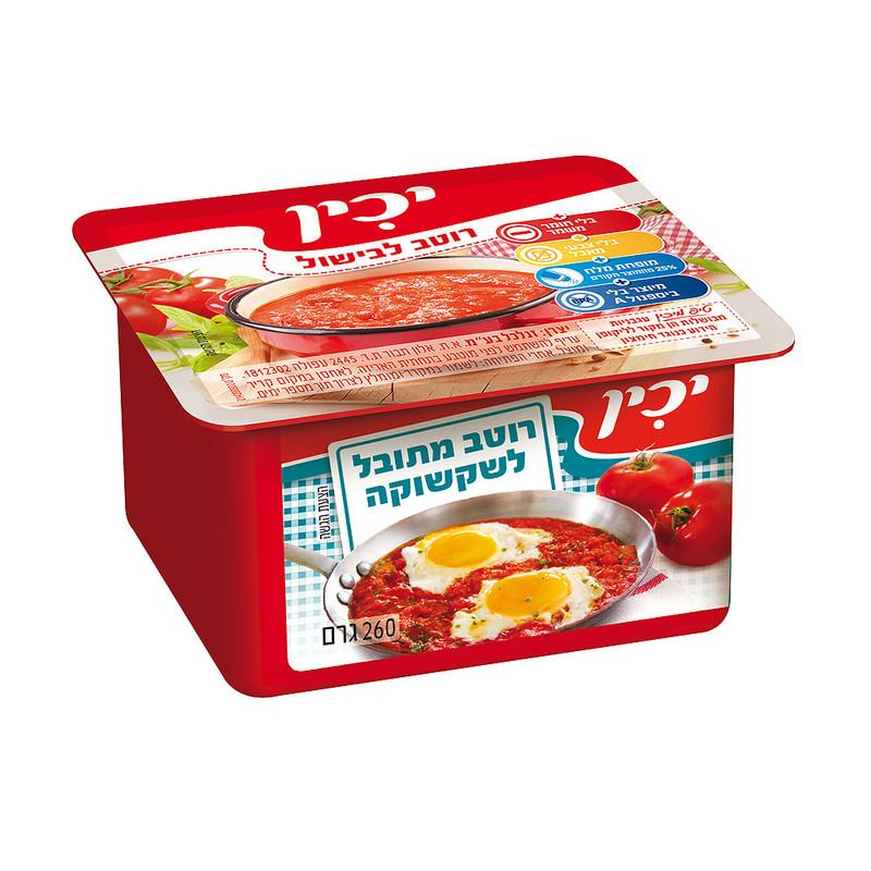 יכין רוטב 260 גרם עגבניות לשקשוקה - 4 יחידות